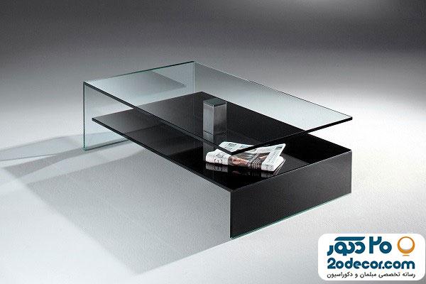میز جلومبلی شیشه ای