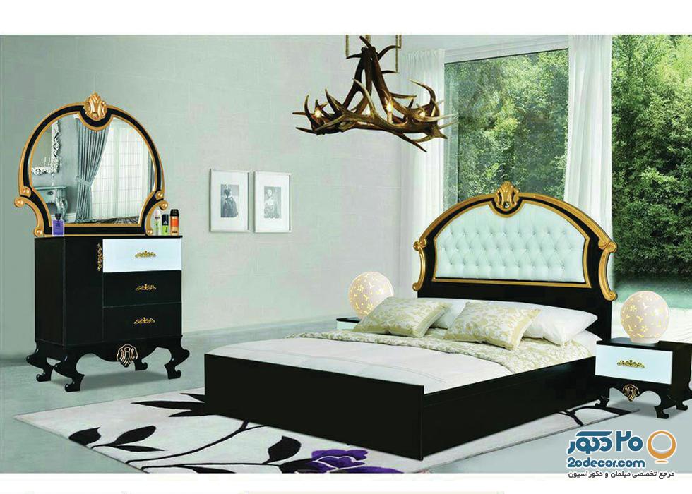 سرویس خواب طلایی رنگ