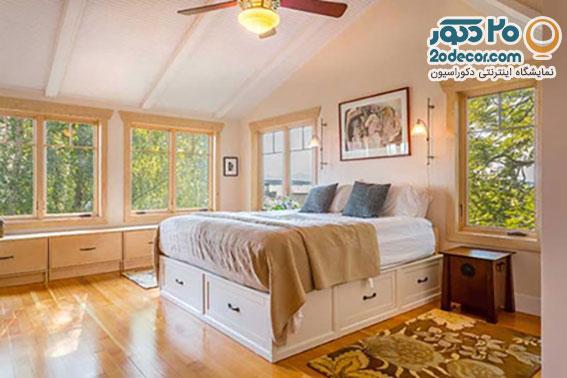 چیدمان اتاق خواب کوچک, نور طبیعی در اتاق خواب