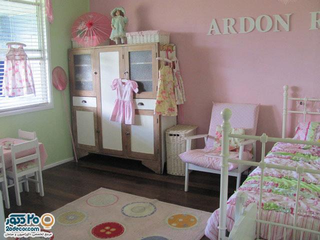 طراحی دکوراسیون های داخلی اتاق خواب کودکان دختر