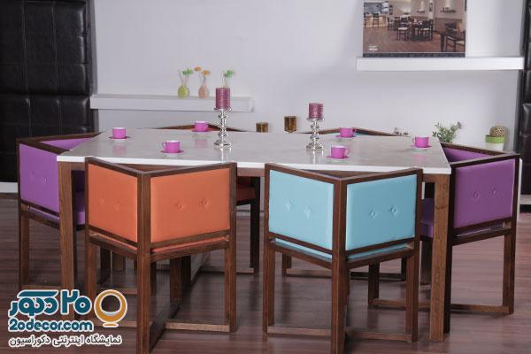 میز ناهارخوری با رنگ زیبا