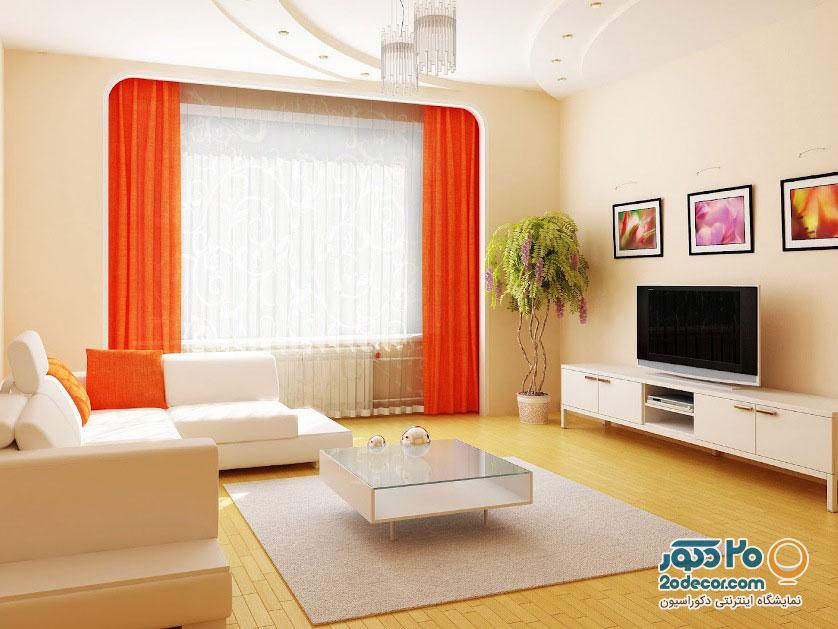 ترکیب رنگ سفید و نارنجی