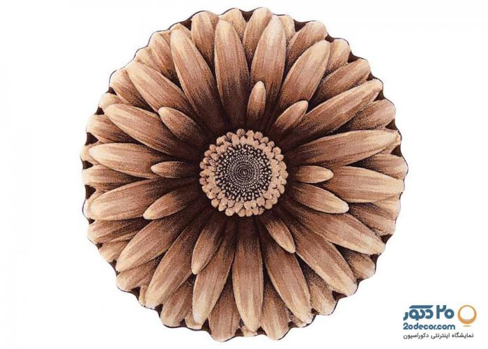 فرش سه بعدی زرباف طرح گل داوودی
