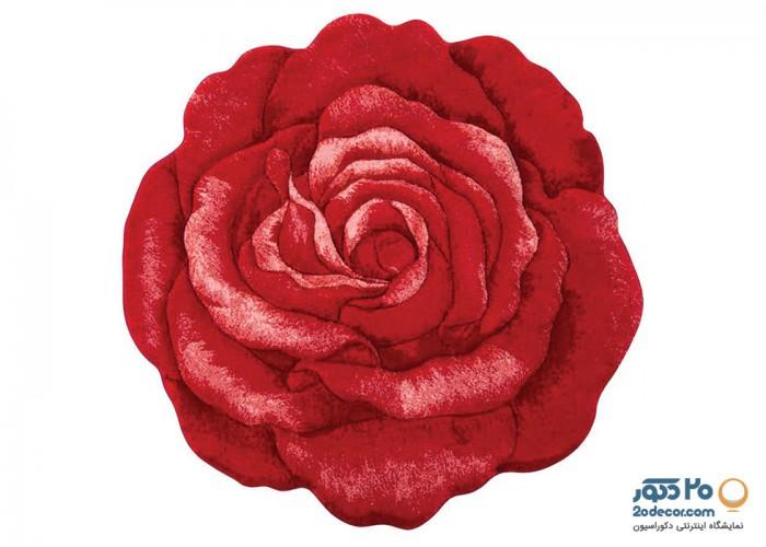 فرش سه بعدی زرباف طرح گل رز