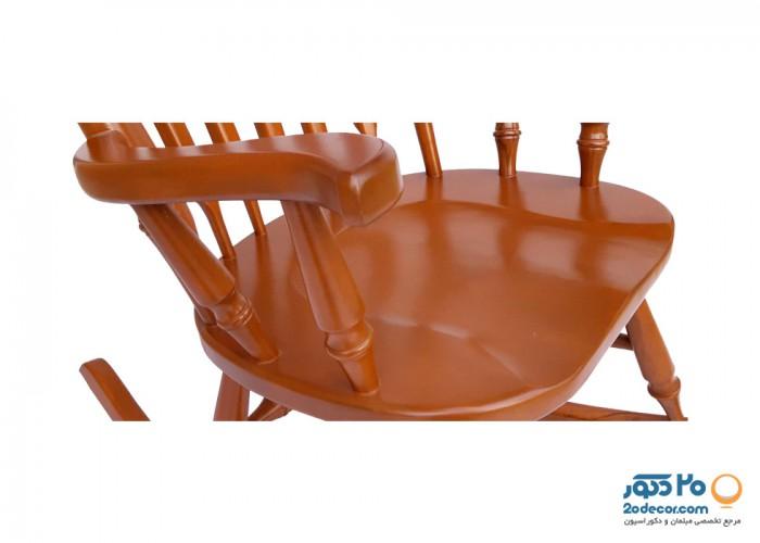 صندلی گهواره ای آمازون چوب مدل راش تاج عقابی