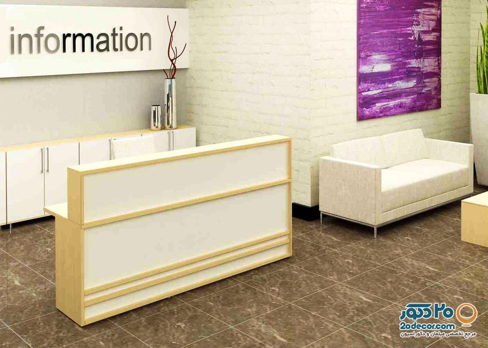 میز پذیرش آکاژو مدل دومینو یک