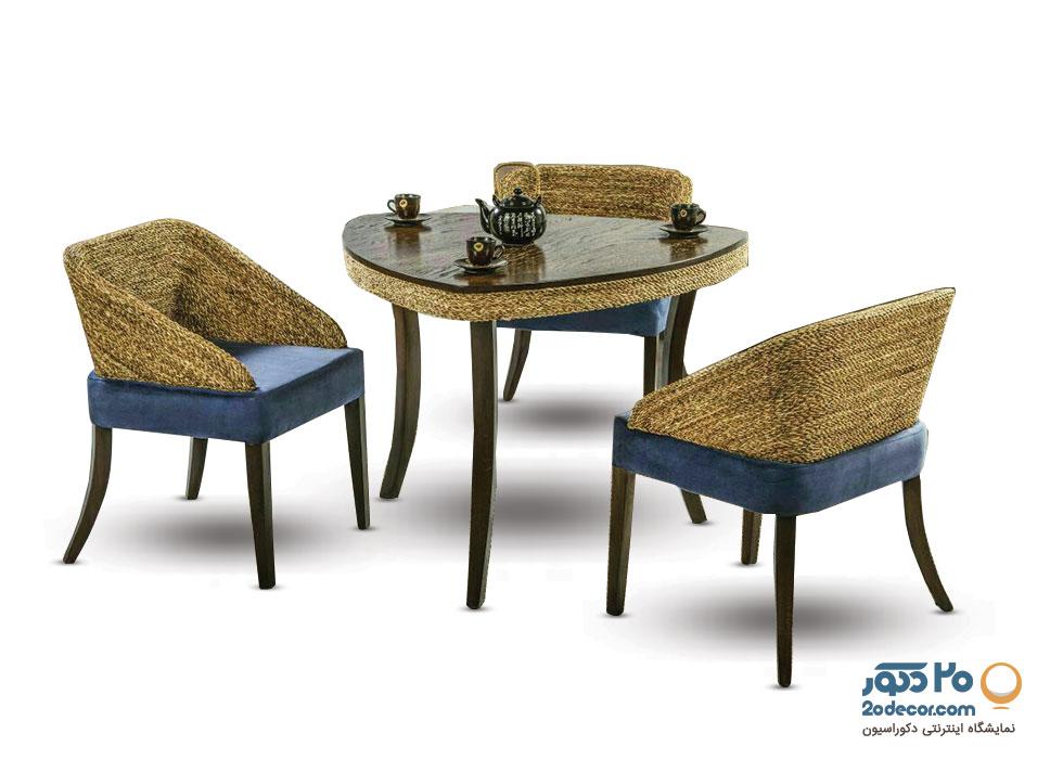 میز ناهار خوری سه نفره کنفی مدل طاووس جدید گالری علی