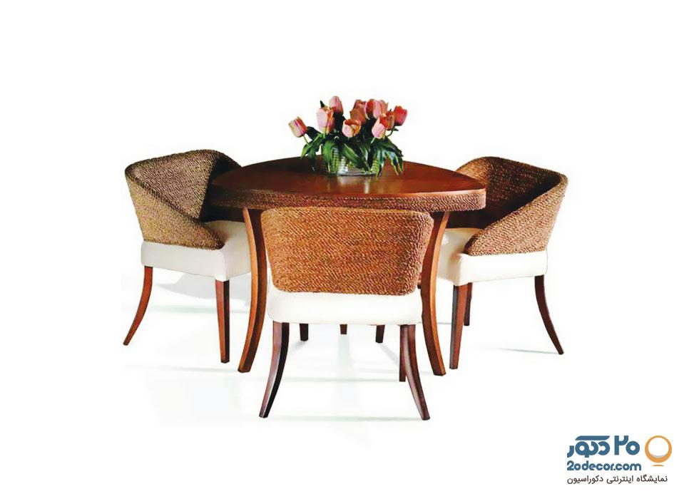 میز ناهار خوری سه نفره مدل طاووس گالری علی