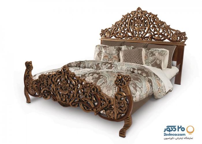 سرویس خواب تمام چوب جهرمی  مدل نیلوفر