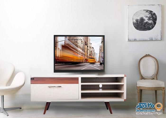 میز تلویزیون کرال استند مدل H-140 COTTON