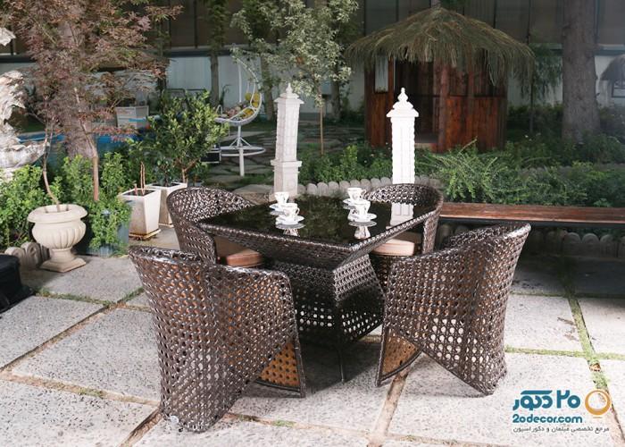 میز و صندلی باغ کوهبر کد101