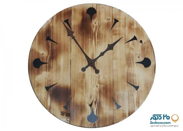 ساعت دیواری مهرگان مدل چوبی