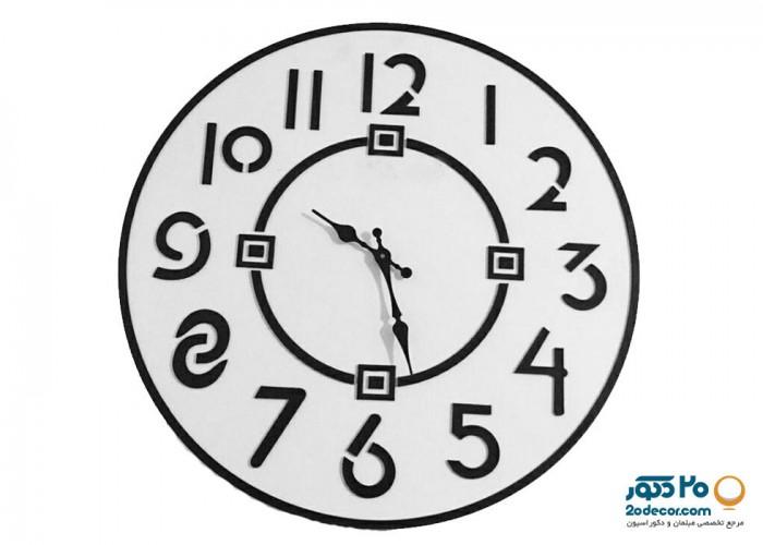 ساعت دیواری مهرگان مدل مشبک 2