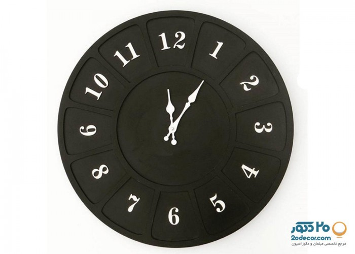 ساعت دیواری مهرگان مدل مشبک