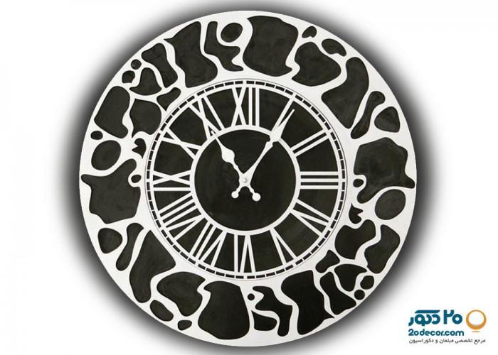 ساعت دیواری مهرگان مدل پلنگی