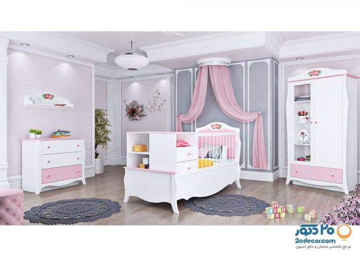 سرویس خواب کودک آوید مدل آلیس