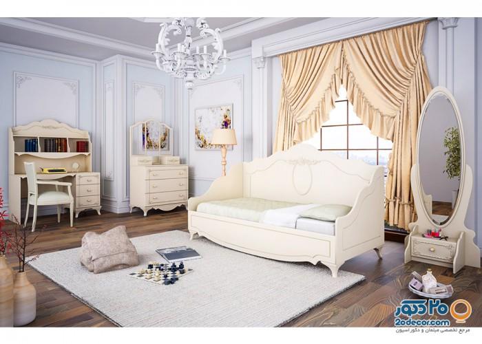 سرویس خواب کودک آوید مدل رومنس