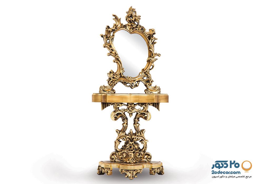 آینه و کنسول تمام چوب مدل روسی تولیدی قنبری
