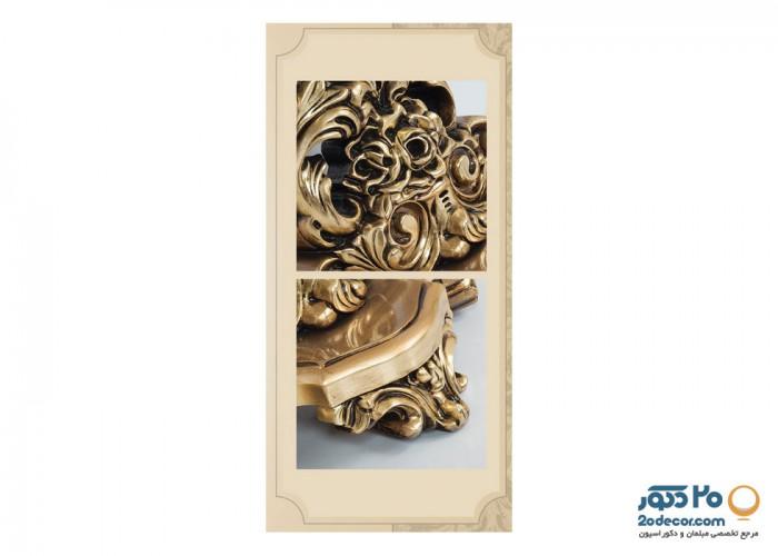 آینه و کنسول تمام چوب رومانس مدل روسی