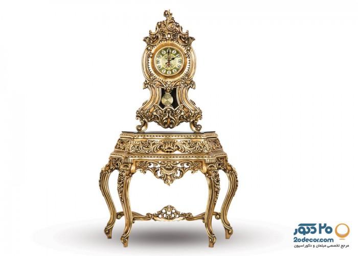 ساعت کنسولی مدل کنسولی پرکار تولیدی قنبری