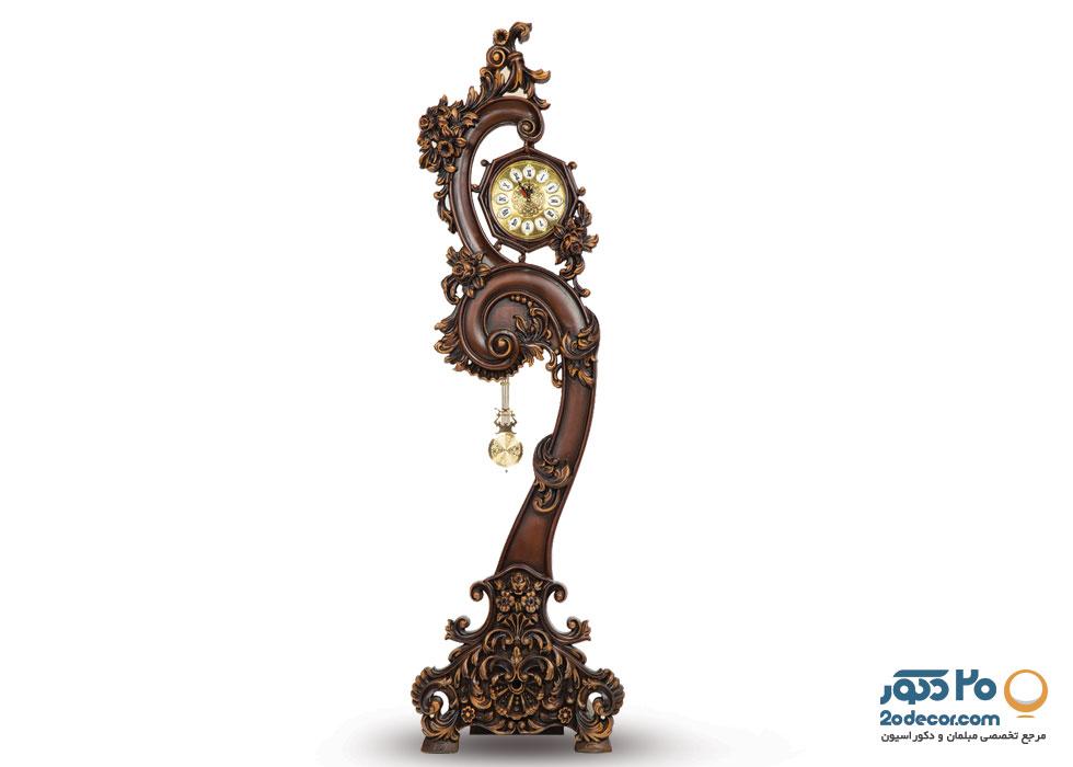 ساعت ایستاده مدل پیچکی تولیدی قنبری