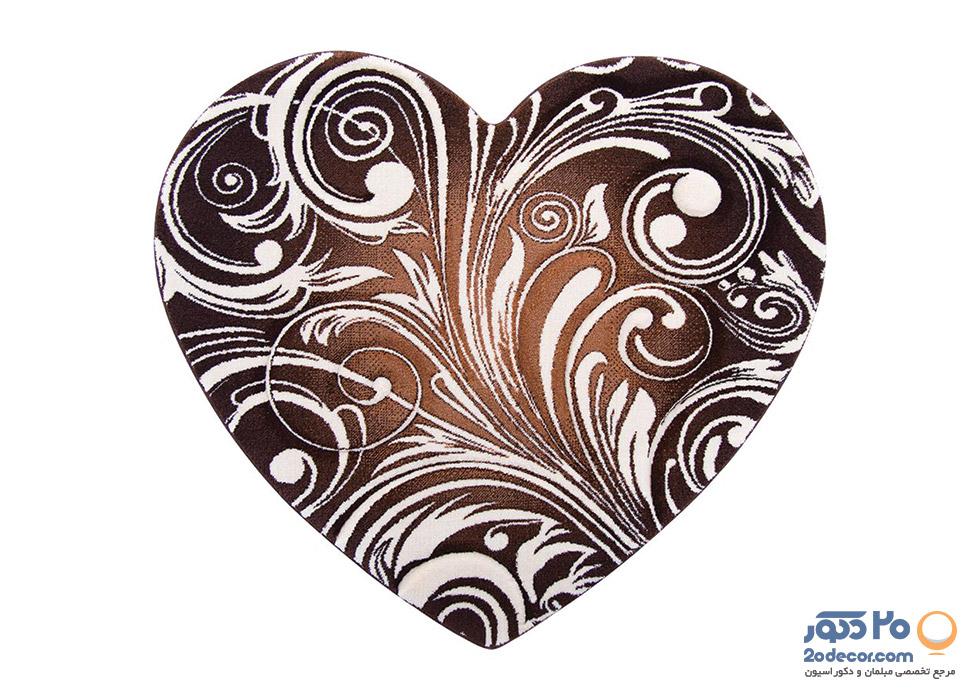 فرش سه بعدی زرباف طرح قلب