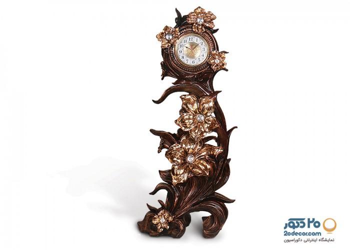 ساعت ایستاده تایم  مدل گل