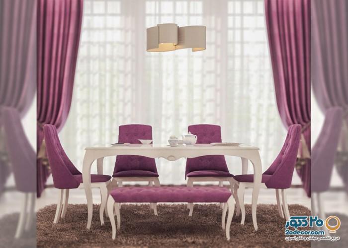 میز و صندلی ناهارخوری اعتماد پارسا مدل میلان