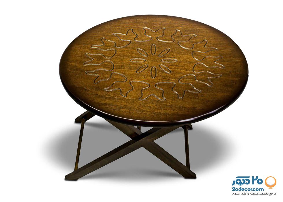 میز عسلی چمدانی تاشو تولیدی حیدری  CNC-01