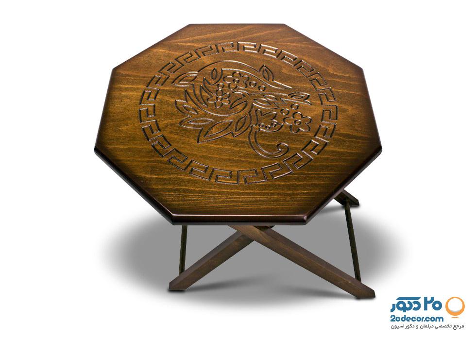 میز عسلی چمدانی تاشو تولیدی حیدری  CNC-02