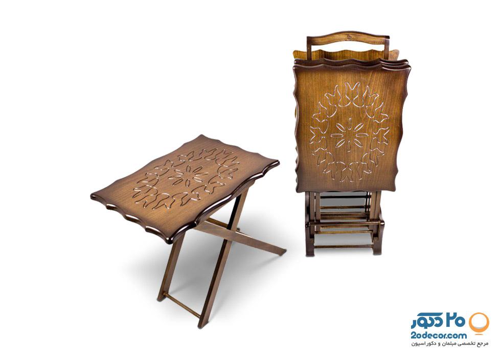 میز عسلی چمدانی تاشو تولیدی حیدری  CNC-04