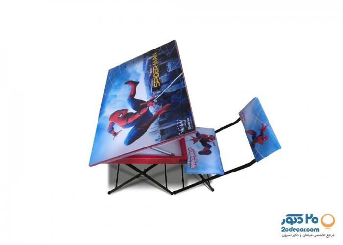 میز و صندلی تحریر عروسکی تولیدی حیدری مدل اسپایدرمن