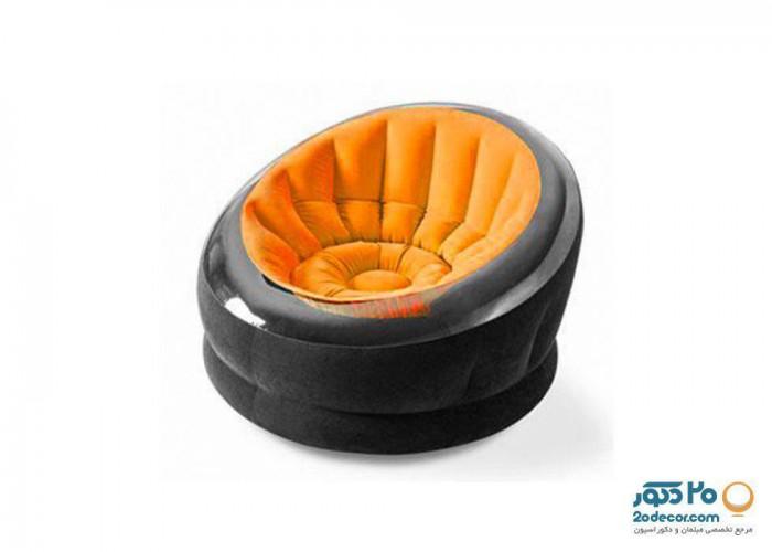 مبل بادی صدفی با رنگ نارنجی اینتکس