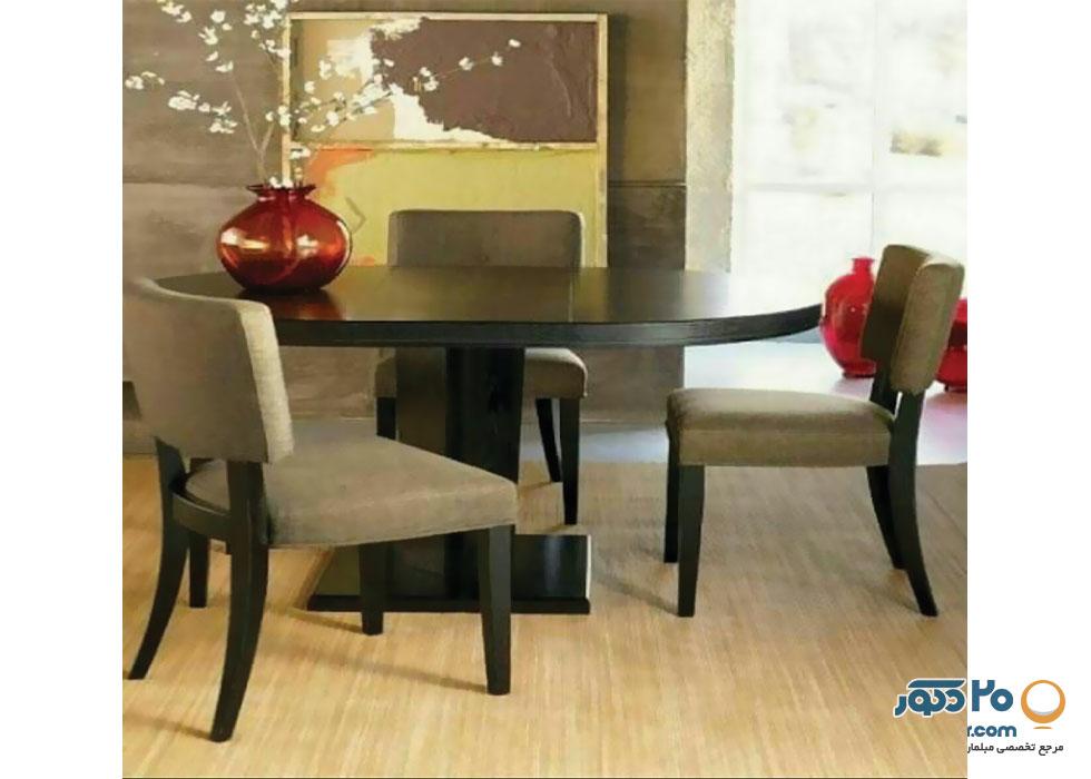 میز ناهارخوری جعفری مدل کامپیوتری بدون قاب