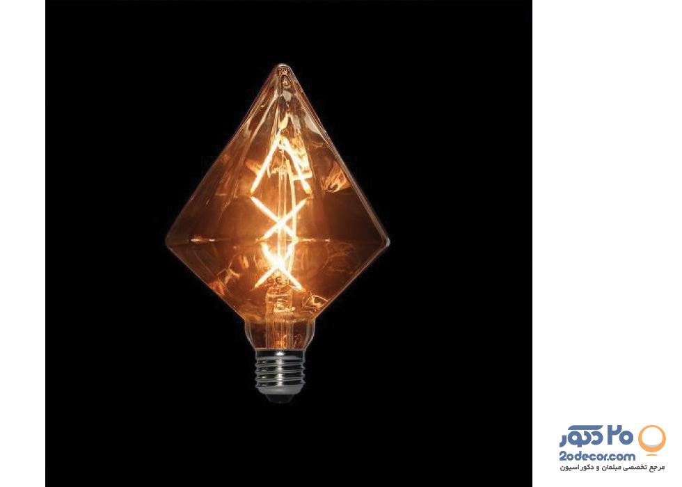 لامپ ادیسون مدل BLG 110 DIAMOND 6W LIGHT GREY بالب لاندن