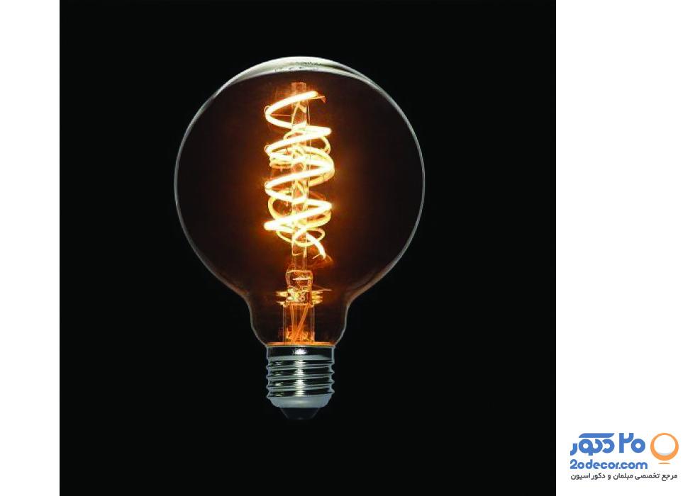 لامپ ادیسون مدل فنری XLARGE GLOBE LIGHT GREY 3W بالب لاندن