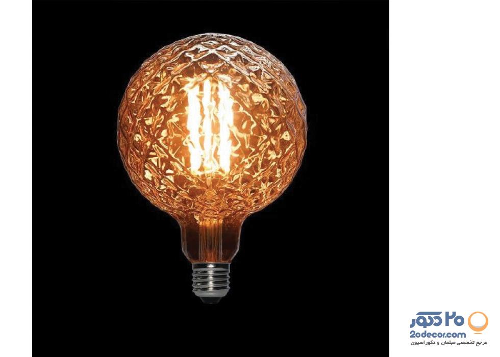 لامپ ادیسون مدل XLARGE GLOBE LIGHT GREY 8W بالب لاندن
