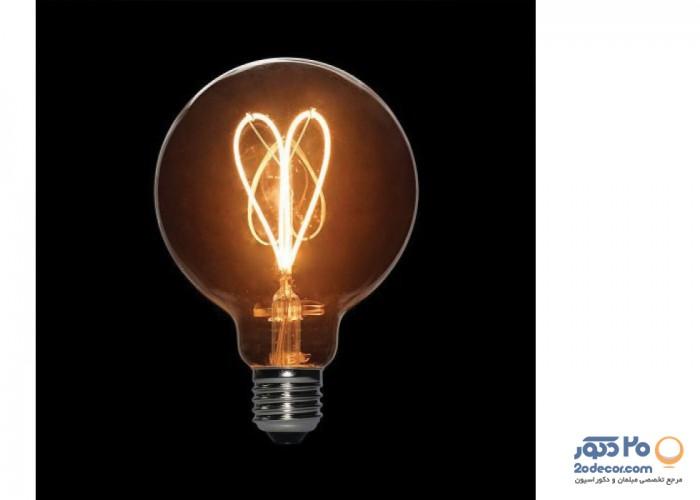 لامپ ادیسون مدل XLARGE GLOBE LIGHT GREY 3W بالب لاندن