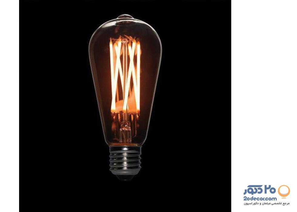 لامپ ادیسون مدل BLST 64 LIGHT GREY 6W بالب لاندن