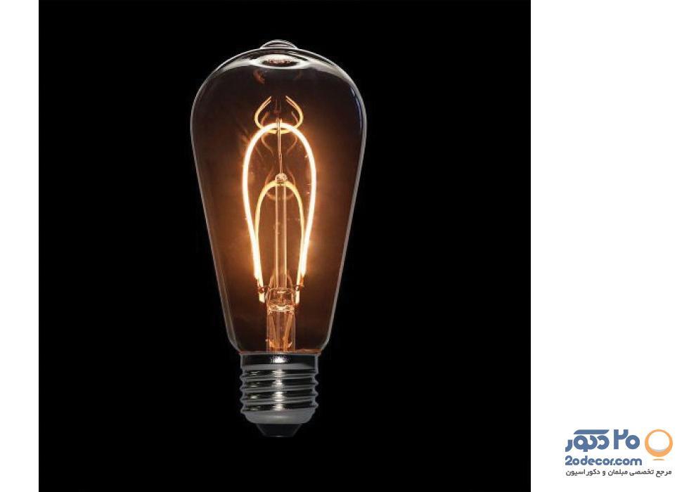 لامپ ادیسون مدل BLST 64 LIGHT GREY 2W بالب لاندن