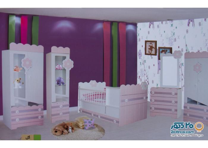 سرویس خواب کودک رومینا مدل گل