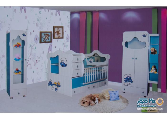 سرویس خواب کودک رومینا مدل اسمورف