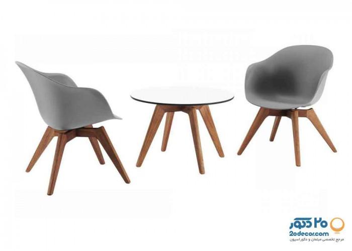 صندلی چند منظوره استیل هامون مدل کامفورت پایه چوب