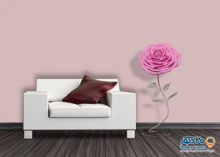 آباژور سورپرایز فلاور طرح گل رز تک شاخه صورتی