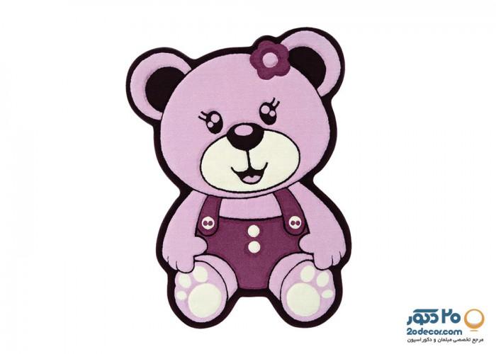 فرش کودک کارتونی زرباف طرح خرس 100*75