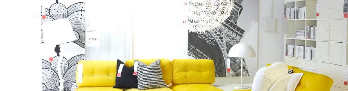 استفاده از مبلمان زرد رنگ در دکوراسیون + تصاویر