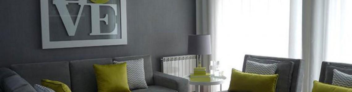 جلوه ی فوق العاده زیبا از ترکیب رنگ خاکستری  و سبز در مبلمان منزل +تصاویر