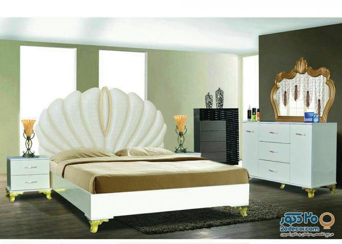 سرویس خواب طاها مدل صدفی
