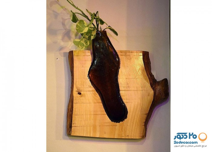 تابلو گیاهی چوبی 2form مدل تنه درختی