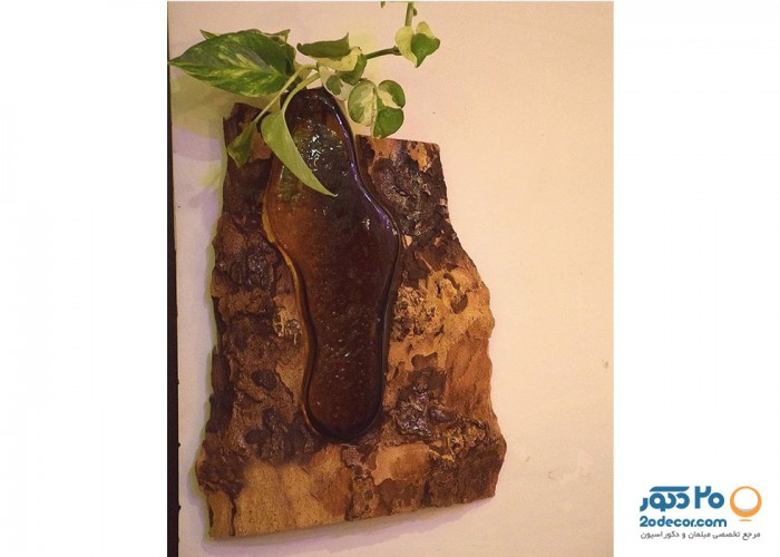 تابلو گیاهی چوبی فندی  مدل تنه درختی
